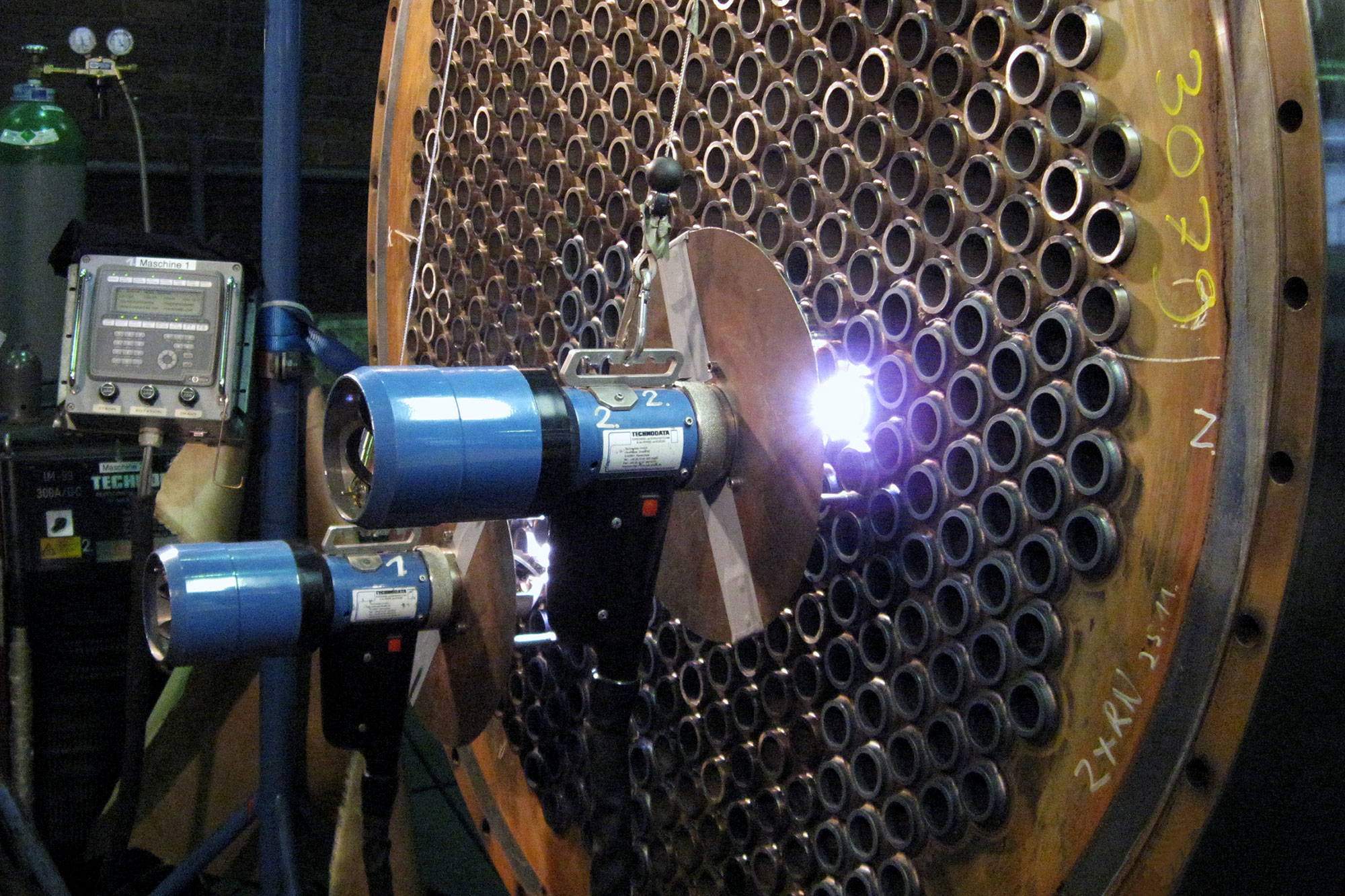Automatic tube welding